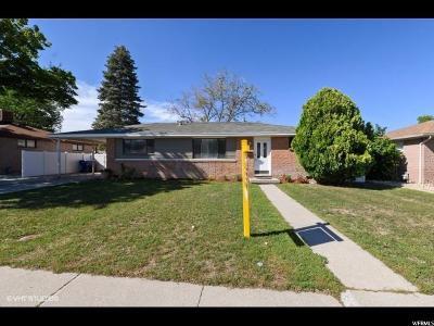 Salt Lake City Single Family Home For Sale: 4142 W 5010 S