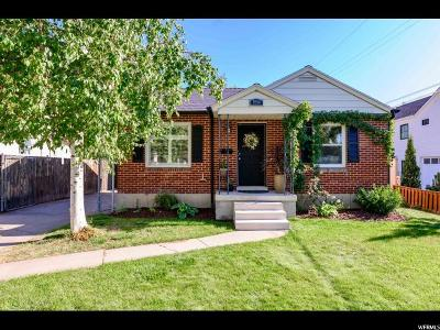 Salt Lake City Single Family Home For Sale: 1954 E Claybourne Ave S