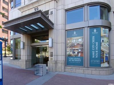 Salt Lake City Condo For Sale: 99 W South Temple St S #2203