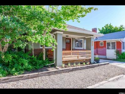 Salt Lake City Single Family Home For Sale: 417 E Logan Ave