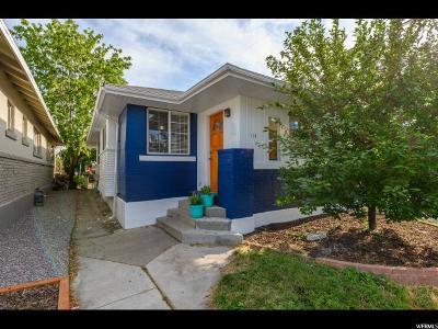 Salt Lake City Single Family Home For Sale: 114 E Hampton Ave