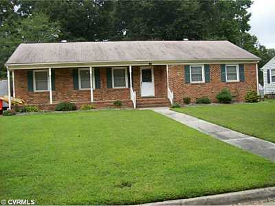 Colonial Heights VA Single Family Home Sold: $135,000