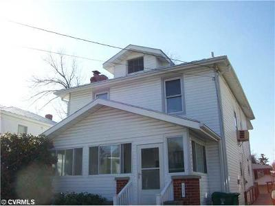 Colonial Heights VA Single Family Home Sold: $60,000