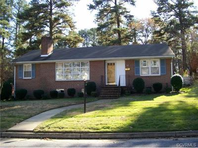 Colonial Heights VA Single Family Home Sold: $140,000