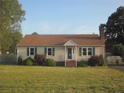 Sandston VA Single Family Home Sold: $140,000