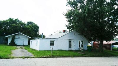 Hopewell VA Single Family Home Sold: $28,000