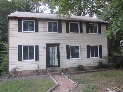North Chesterfield VA Single Family Home Sold: $112,500