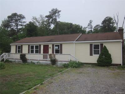 Mechanicsville VA Single Family Home Sold: $110,250