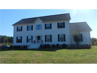 Dinwiddie Single Family Home For Sale: 9975 Scotts Road