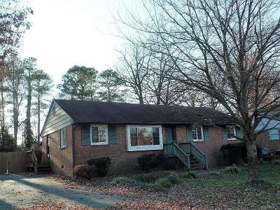 North Chesterfield VA Single Family Home Sold: $151,000