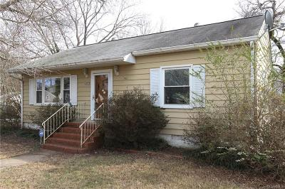 North Chesterfield VA Single Family Home Sold: $106,380