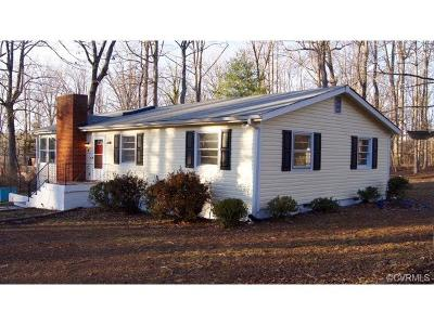 Cumberland VA Single Family Home For Sale: $149,900