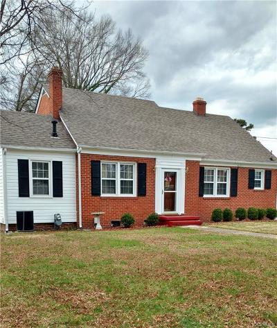 Hopewell VA Single Family Home For Sale: $139,950