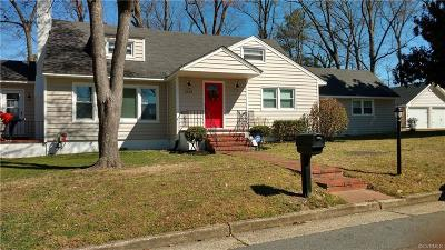Hopewell VA Single Family Home Sold: $189,500