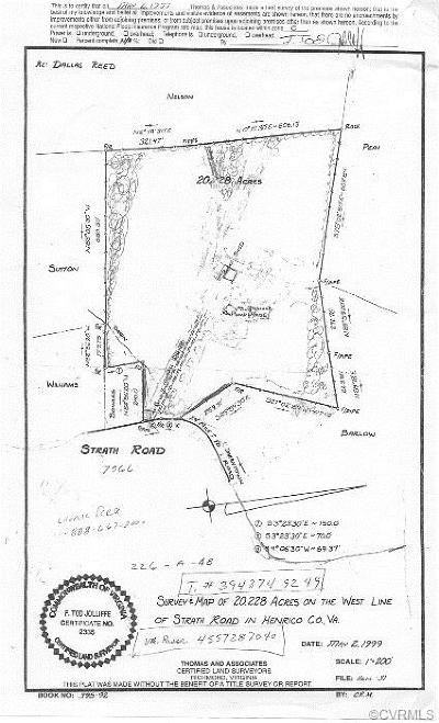Henrico Residential Lots & Land For Sale: 7566 Strath Road