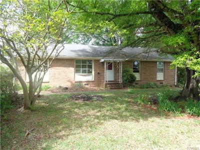 Prince George VA Single Family Home For Sale: $74,900