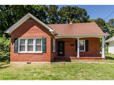 Hopewell Single Family Home For Sale: 2411 West City Point Road
