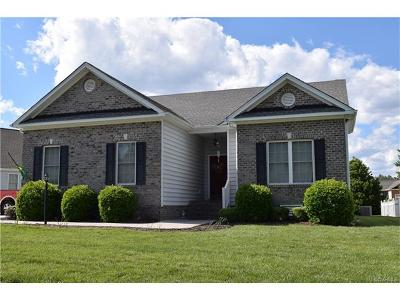 Prince George VA Single Family Home For Sale: $264,950