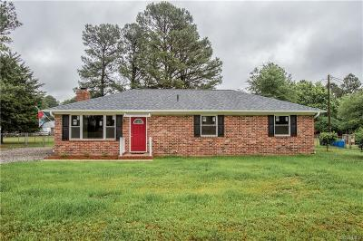 Dinwiddie Single Family Home For Sale: 25109 Floyd Avenue
