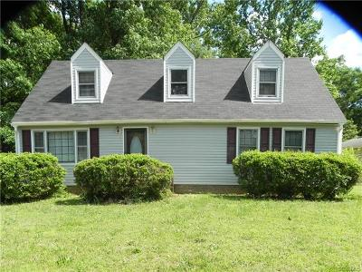 Prince George VA Single Family Home For Sale: $159,550