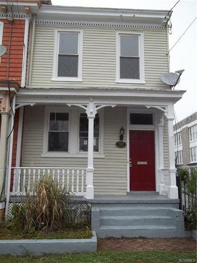 Richmond Single Family Home For Sale: 2512 East Leigh Street
