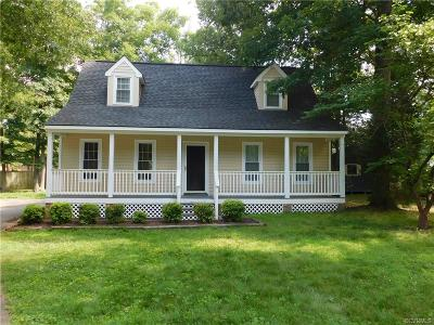 Chesterfield VA Single Family Home For Sale: $172,500
