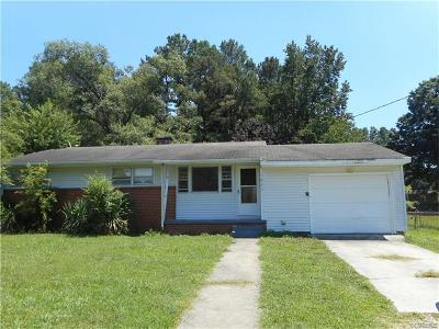 Chester Single Family Home For Sale: 1603 Enon Church Road