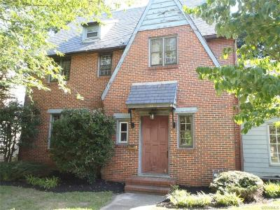 Petersburg Single Family Home For Sale: 1633 Mount Vernon Street
