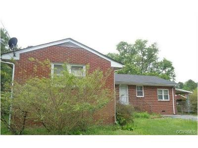 Dinwiddie Single Family Home For Sale: 6002 Lewis Road