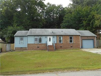 Colonial Heights VA Single Family Home For Sale: $118,000