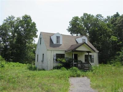 Dinwiddie County Single Family Home For Sale: 12009 Duncan Road