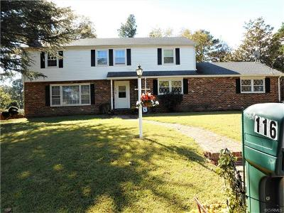 Colonial Heights Single Family Home For Sale: 116 Nottingham Drive
