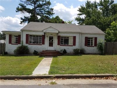 Hopewell VA Single Family Home For Sale: $75,000