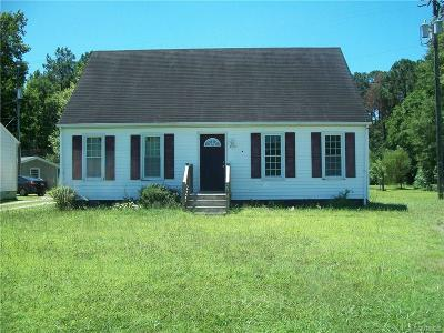 Chesterfield VA Single Family Home For Sale: $104,500