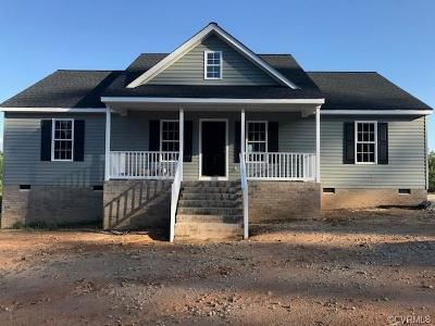 Dinwiddie Single Family Home For Sale: 18881 Lundys Road