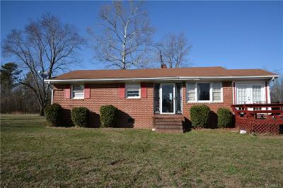 Dinwiddie Single Family Home For Sale: 26016 Troublefield Road