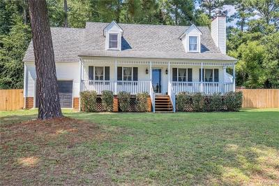 Dinwiddie Single Family Home For Sale: 25412 Walkers Landing Court