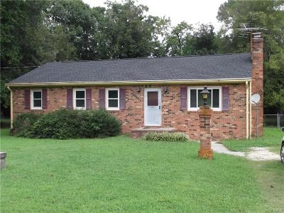 Prince George VA Single Family Home For Sale: $124,500