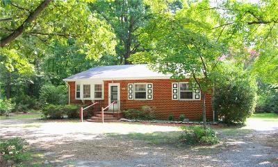 Chesterfield VA Single Family Home For Sale: $144,900