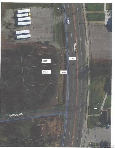 Henrico County Residential Lots & Land For Sale: 5814 & 5818 Nine Mile Road