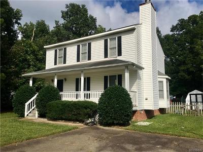 Chesterfield VA Single Family Home For Sale: $190,000