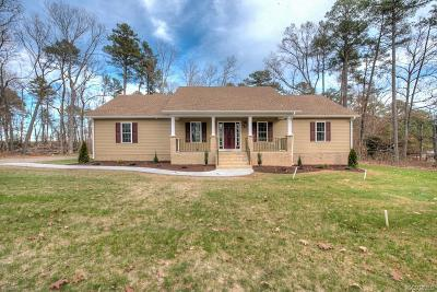 Dinwiddie Single Family Home For Sale: 13591 Courthouse