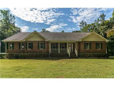 Mechanicsville Single Family Home For Sale: 4275 Spring Run Road