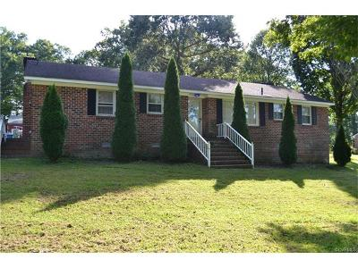 Dinwiddie Single Family Home For Sale: 6130 Courthouse Road