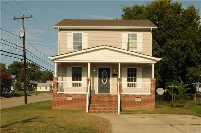 Hopewell VA Single Family Home For Sale: $134,990