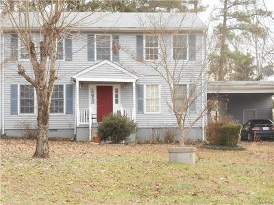 Prince George VA Single Family Home For Sale: $179,900