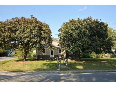 Richmond Single Family Home For Sale: 3050 Walmsley Boulevard