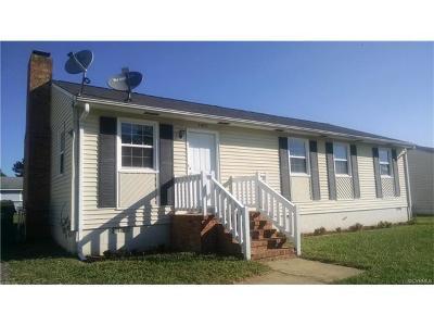 Hopewell VA Single Family Home For Sale: $115,995