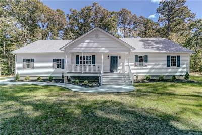 Dinwiddie Single Family Home For Sale: 13521 Courthouse Road