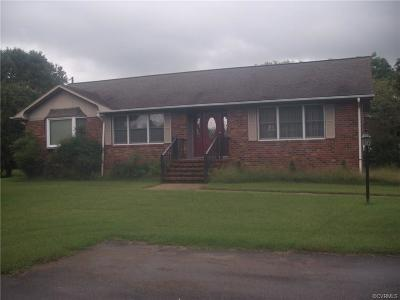 Prince George VA Single Family Home For Sale: $272,000